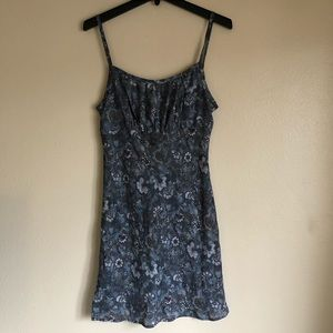 Vintage Blue Floral Summer Dress Sz 9/10